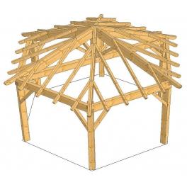 Plan de kiosque en bois