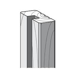 Demi -poteau rainuré 29mm